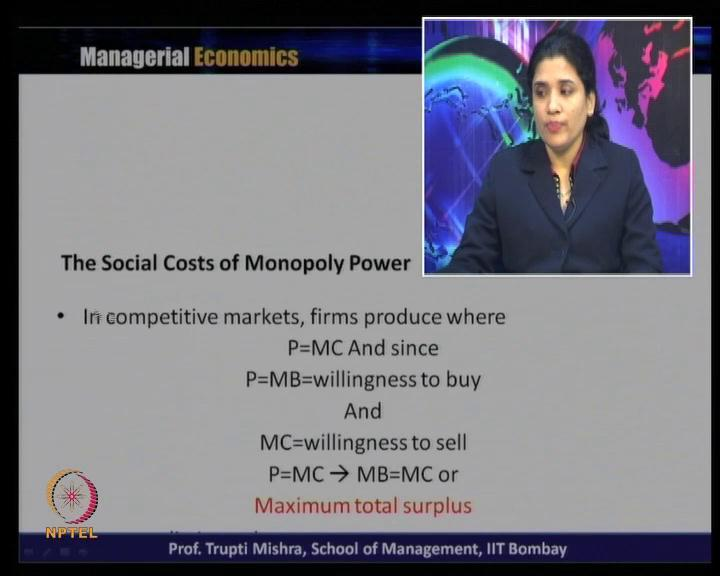 Whereas, monopoly produce where marginal revenue is equal to marginal cost, and getting their price from the demand curve; that is price and the quantity.