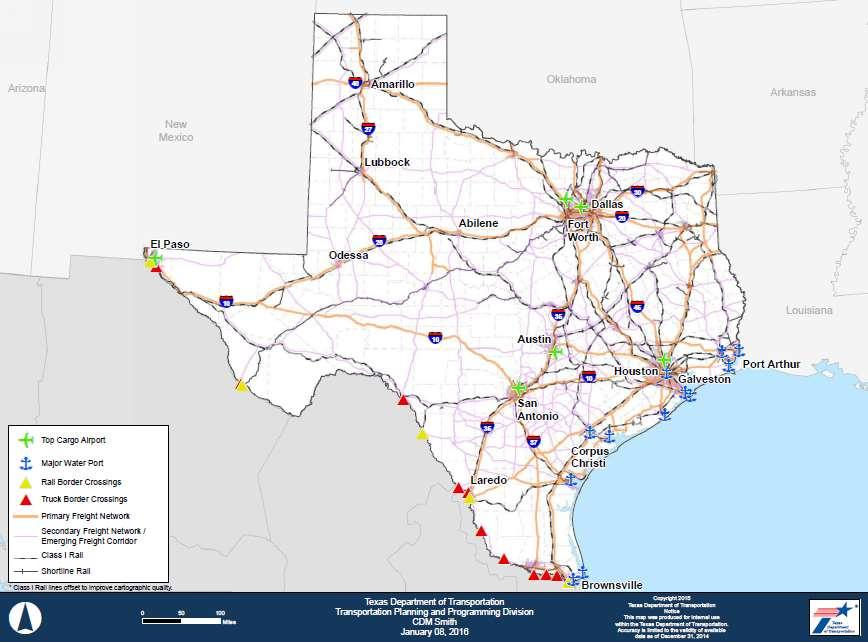 Key Policy Recommendation: Texas Freight Network The Texas Freight Network provides a strategic framework for statewide transportation investment