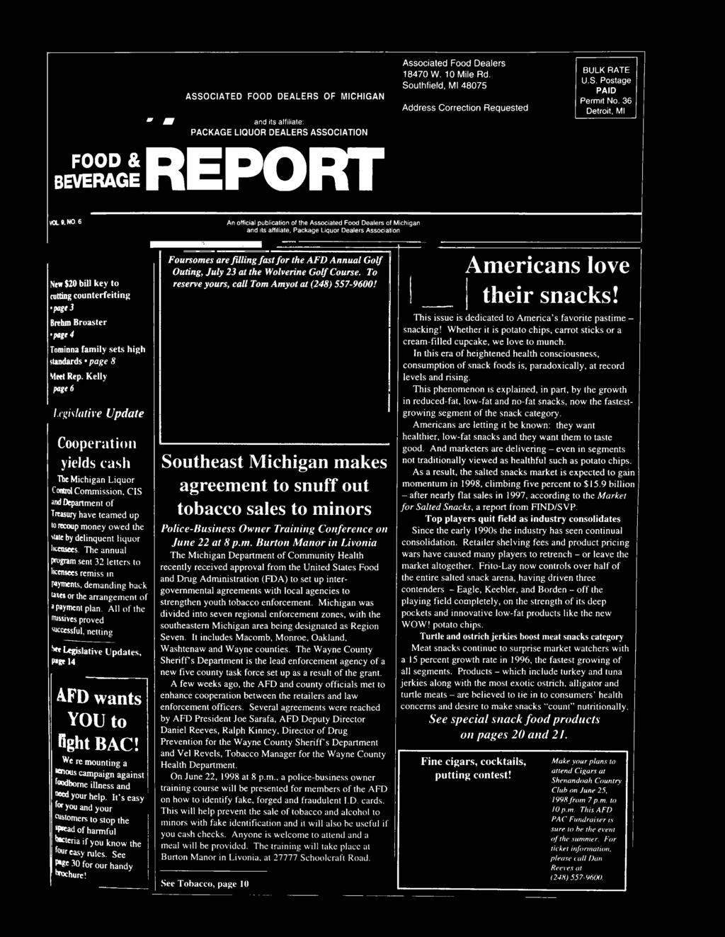 Report Food Beverage Pdf Brooaster Chicken Pkg 5 E Voucher Kelly Page 6 Legislative Update Cooperation Yields Cash The Michigan Liquor Control Commission Cis And