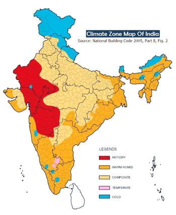 Variation in Climate Zones within India