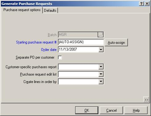 Customer-specific Purchases * PURPOSE The Customer-specific Purchases Report lets you see the merchandise on customer orders that needs to be purchased,