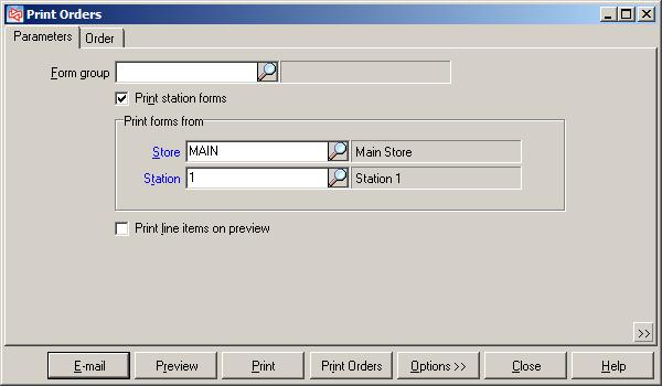 Print Orders PURPOSE The Print Orders Report allows you to preview or print a report for open orders.
