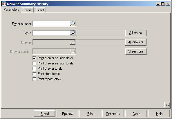 Drawer Summary History PURPOSE The Drawer Summary History allows you to reconcile payment entries with the actual tender removed from the drawer at closing.