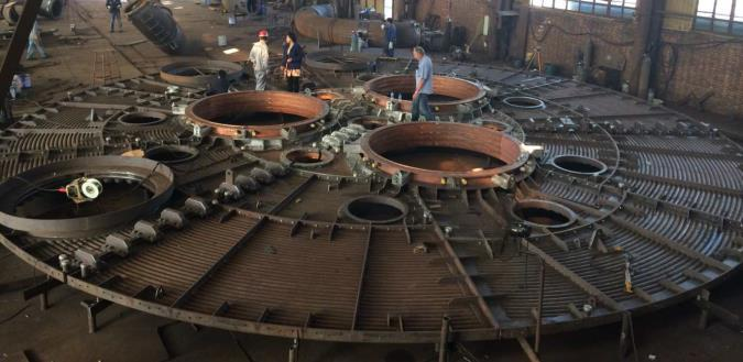 Recent installations are Mogale Alloys in Krugersdorp, where the SMS group was responsible for the upgrading of two SiMn furnaces with new electrode columns, air-cooled roofs, gasoff takes, bus tubes