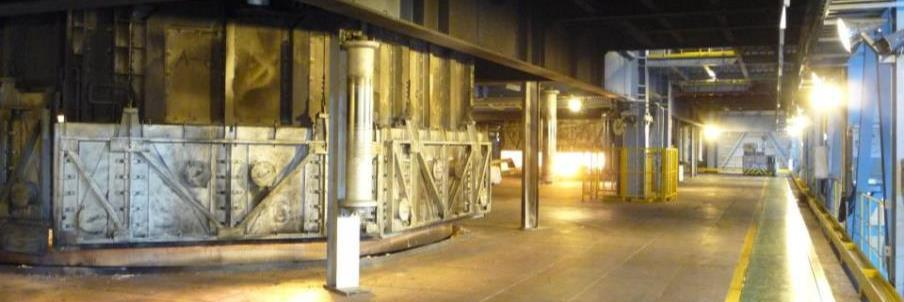 The furnaces are characterized by encapsulated electrode columns with hydraulic control, contact clamp tightening operation, and short and low inductive electrical feeders.
