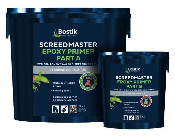 - A bonding agent for non-porous surfaces - A primer for porous surfaces - For fast track installations Screedmaster Epoxy Primer is a non-flammable, two component water dispersible epoxy primer