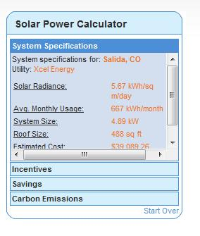 Estimating Solar PV System Calculates system size based on: Percent offset of demand Average year-round solar data (accuracy?