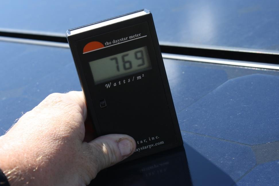 Measuring Solar Irradiance Solar irradiance meters can give site-specific information at a given time (useful for