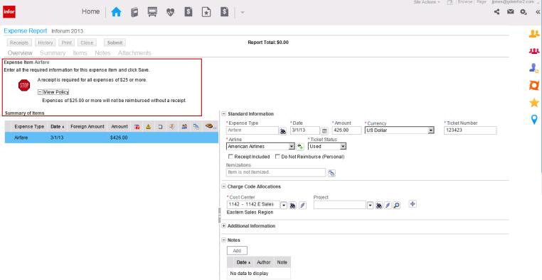 Helps gain control Time and Expense management Exception based routing