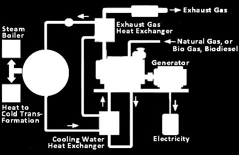 Cogeneration The production of two useful forms of energy from the same fuel source.