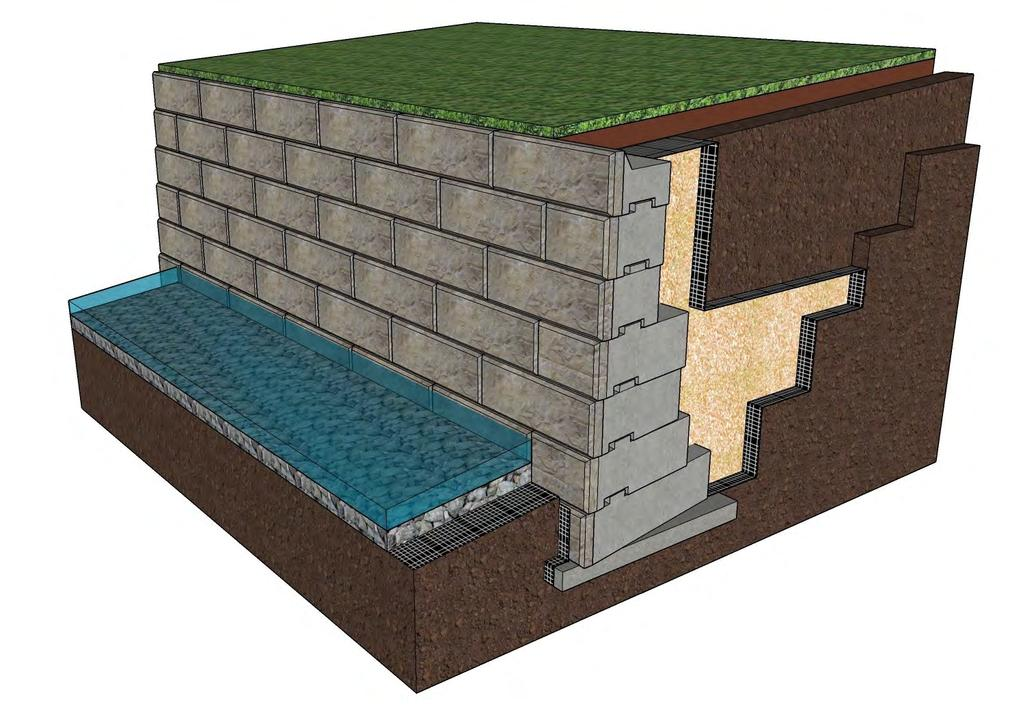 Water Applications ReCon blocks have quickly become the product choice for retaining wall water applications because of their proven durability and ease of installation.