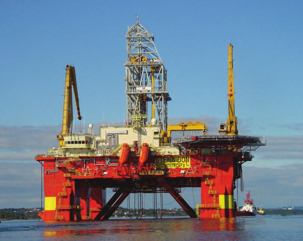 operations, thus improving drilling efficiency by 30% compared to that of a conventional single derrick operation.