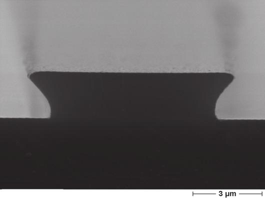 com Conventional Pattern Transfer and Single-Layer Lift-Off ma-n 400, 2 μm thick 90 s, 0 μm undercut s, μm undercut Unique features High wet and dry etch resistance Good thermal stability of the