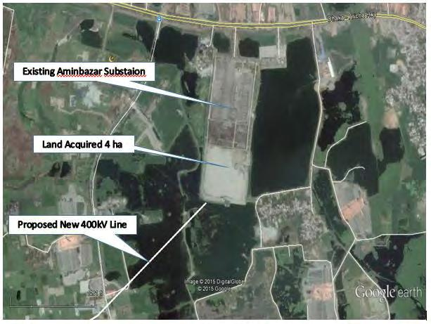 Map 3.3 - Site of Aminbazar 400kV Grid Substation 98. The proposed Air-insulated Switchgear (AIS) at Aminbazar has specifications as indicated in Table 3.
