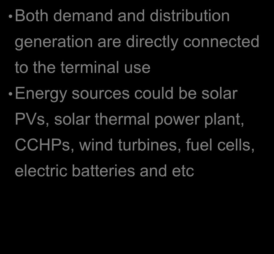 use Energy sources could be solar PVs, solar thermal power