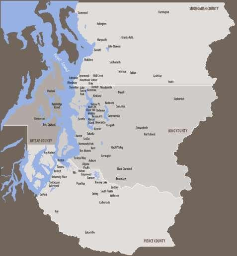 2 Puget Sound Regional Council The Region: 4 counties 82 cities and towns Hundreds