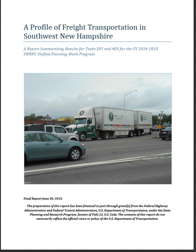 Findings from A Profile of Freight Transportation in Southwest New Hampshire (2015) Congestion: Brattleboro-Hinsdale Bridge; PM Peak NH 10 around Keene/Swanzey; PM Peak NH 101; Lower Main Street in