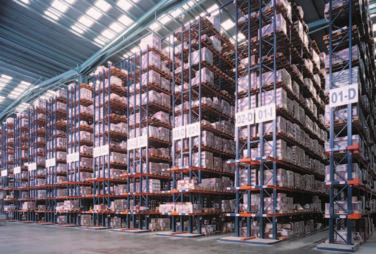 General features of the narrow aisle high height system Warehouses are built with high height racks separated by narrow storage aisles.