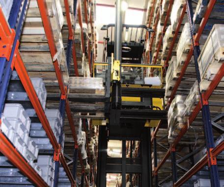Trilateral forklift A trilateral forklift allows pallets to be picked up and
