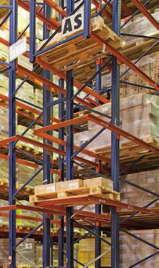 other more conventional forklifts are responsible for handling pallets from these points.