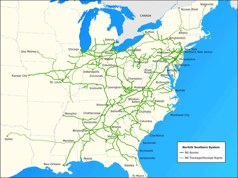 NS Intermodal Network Norfolk Southern System Intermodal Terminal(s) Market