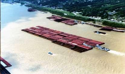 Inland Waterway System Barge Operations 38 states served 12,000 miles of Navigable waterways 275 locks 818 million tons