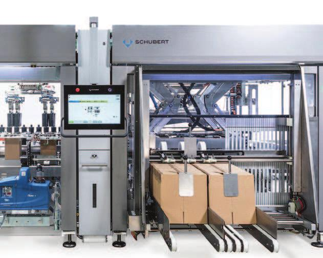 ADVERTISEMENT HIGHLIGHT PACKAGING Schubert-Cosmetics Fully automated adjusted to a wide range of format sizes: RSC carton magazine and erecting tool.