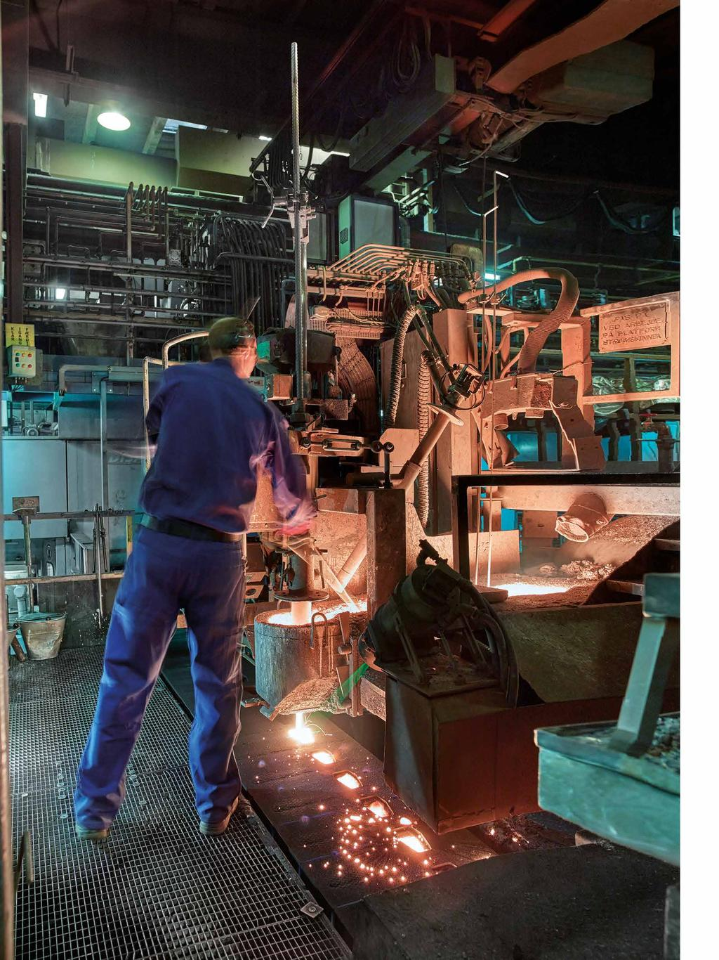 Modern production lines Essentially iron casting has changed little since the invention of iron melting thousands of years ago, but the possibilities today are truly amazing, both in