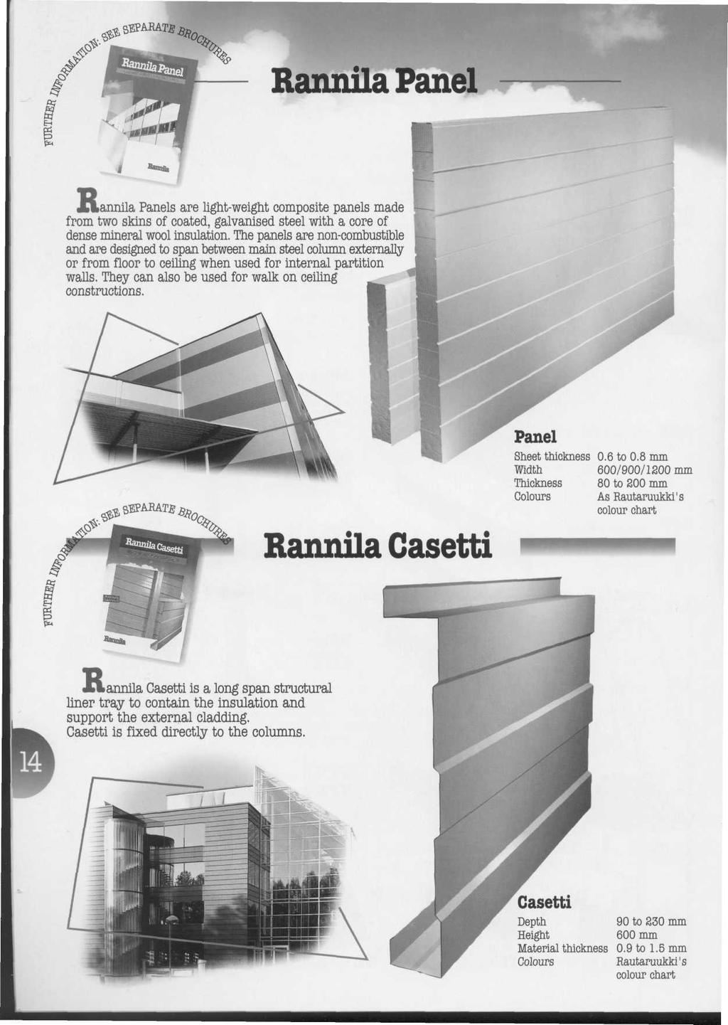 Rannila Panel Lannila Panels are light-weight composite panels made from two skins of coated, galvanised steel with a core of dense mineral wool insulation.