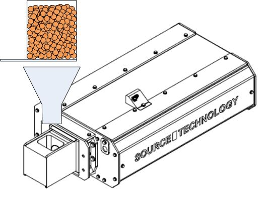 10 Test 2: Offline measuring repeatability by using dry pet food A test was performed to analyze the measuring repeatability of the bulk density, by using a small-sized and a large-sized product