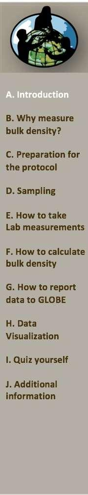 Overview This module provides step-by-step instructions in how to do the Bulk Density Protocol.