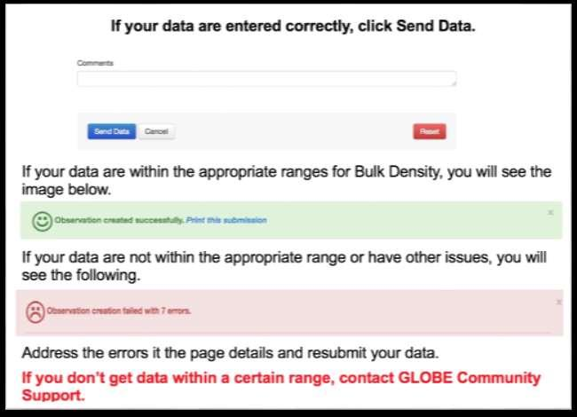 Submit Data If your data are