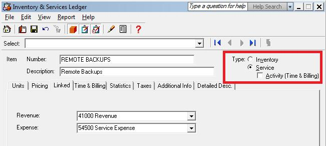 In Sage, we can create our Expense class account 54500 by setting the Account Class to Expense on the Class Options tab.