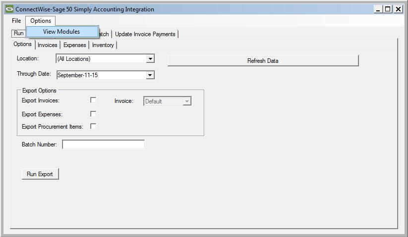 Item Receipts Item receipts in Manage can be mapped to Sage 50 Canada in one of two ways by enabling or