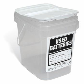 14. Battery Disposing Container Color: Lid: White, Bottom: Clear Dimensions: 20cm W x 25cm L x