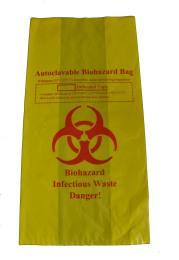 27. Autoclave Bags Material: Polyethylene (HDPE). Color: Yellow. With Bio hazardous symbol printing.