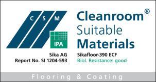 Construction Product Data Sheet Edition 10/07/2014 Identification no: 02 08 01 02 020 0 000008 Sikafloor -390 ECF 2-part flexible epoxy coating, chemical resistant and electrostatic conductive