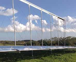 For large parabolic for process heat generation demanding high performance,, with 90% solar reflectance, is the right choice.