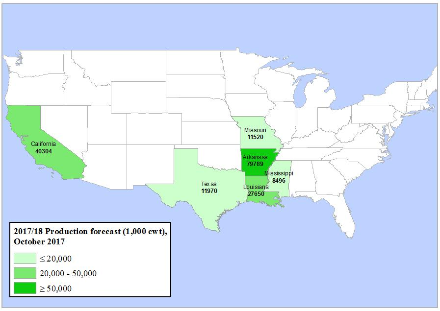 Arkansas remains the largest rice producing State