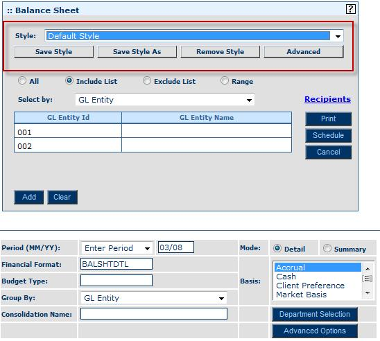 Module 6: General Ledger Inquiry and Reporting Creating, Modifying and Deleting Report Styles Overview When generating your report, you will select options that determine what data is presented and