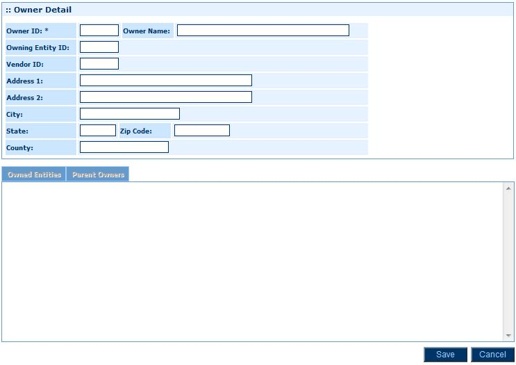 Module 2: Setting Up General Ledger 2. Click Add to add a new owner record. Owner Detail Page 3. Complete the necessary fields. The table below provides assistance with completing some of the fields.