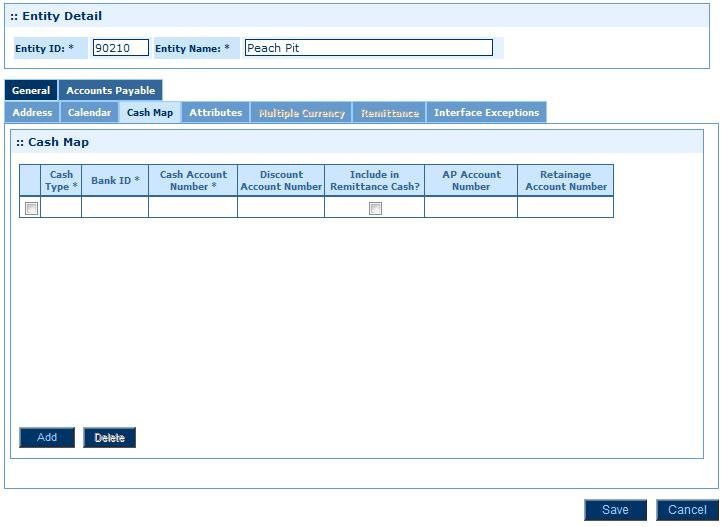 Module 2: Setting Up General Ledger 10. Click the Cash Map subtab. Cash Map Page 11.