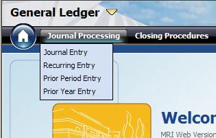 Module 3: Setting Up General Ledger Procedure Complete the following steps to enter a manual journal entry for a current or future period: 1.