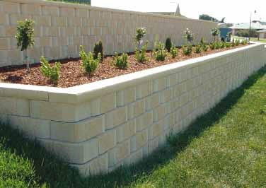 72 blocks per square metre. Check your local council for construction of retaining wall requirements. They might require engineer details.