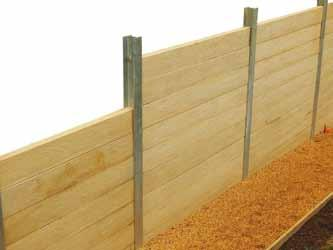 Concrete Sleepers BCP Concrete Sleepers offer a cost effective method for your Retaining Wall needs.