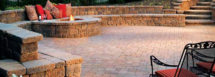 com for step by step instructions for building attractive outdoor living elements using the Country Manor product, including designs for a mailbox column, bench, fire pit and more.
