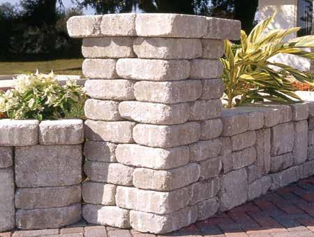 Basic Wall Block Keystone 4-in.  Basic Wall Block adds beauty to your landscape with complementing natural stone texture and earth tones that blend with any landscape.