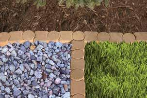 "7""/7"" W x 5"" D Stones per linear ft./1.6 Wt./9 lbs Stones per pallet/320 Pallet wt./2,880 A: B: 12-in. Tan/Grey Alameda Edger ITEM# 388412 Give your backyard the feel of a nature preserve."