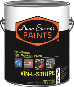 :: Superior brushing characteristics and flow & leveling VIN-L-STRIPE is a premium fast-drying waterborne acrylic traffic paint designed for use on