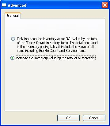 Creating a Batch Separate Cost (G/L) and Cost (Pricing) Values EBMS allows the user to calculate and maintain two different values for the finished goods that are manufactured within the batch screen.